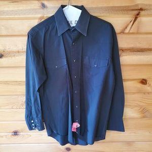 Wranglers Black, Polyester/Cotton, Western Shirt